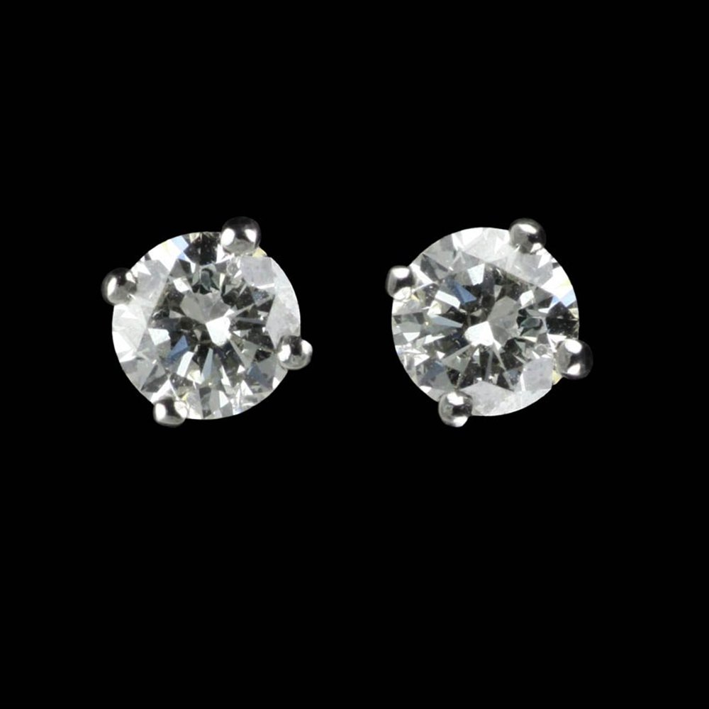 diamond jewellery second earrings hand stud product platinum g details