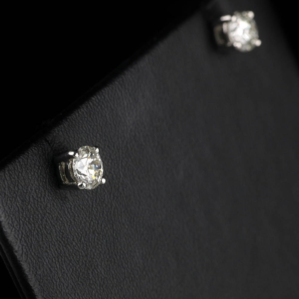 Platinum Platinum 1.01cts VS2 G Diamond Stud Earrings