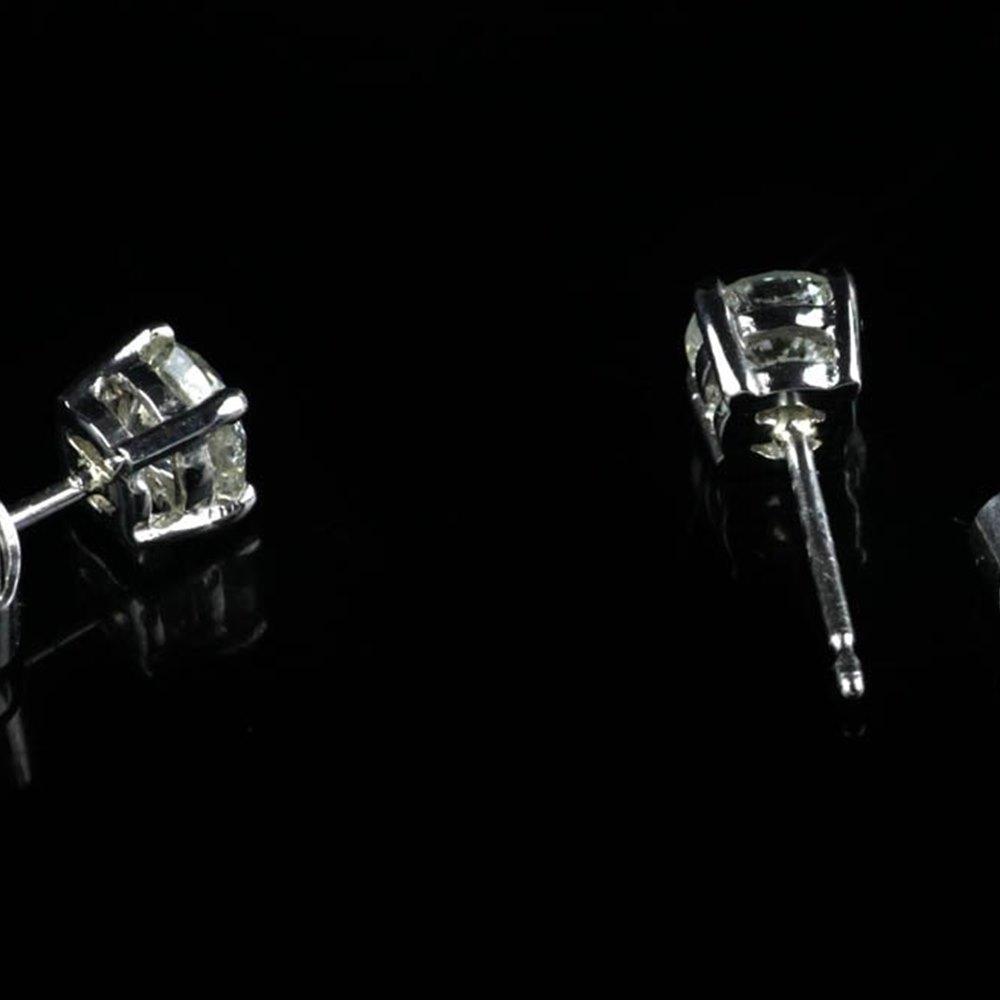 Platinum  Platinum 1.01cts VS2 G Diamond Stud Earrings