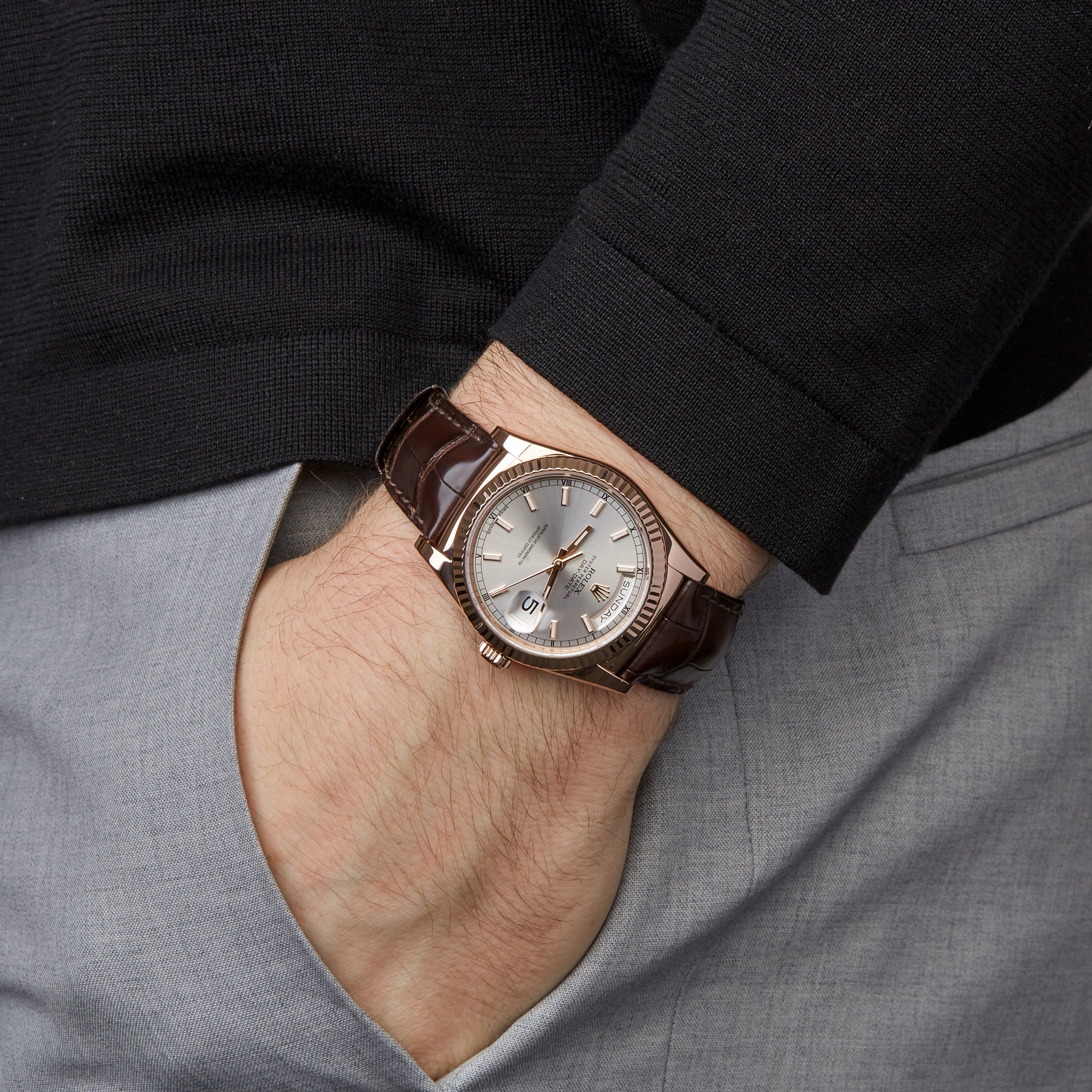 Rolex Day-Date 36 18K Rose Goud 118135