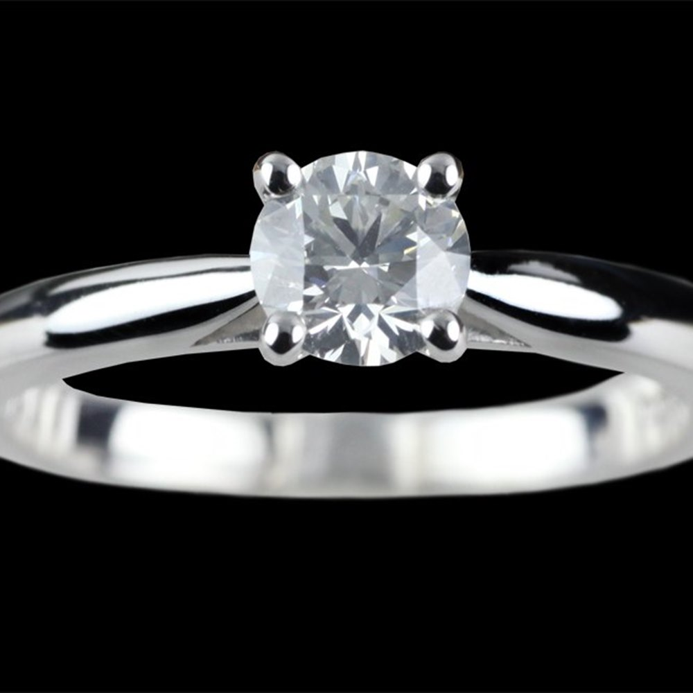 18k White Gold 18k White Gold 0.55 cts G VS1 Diamond Ring