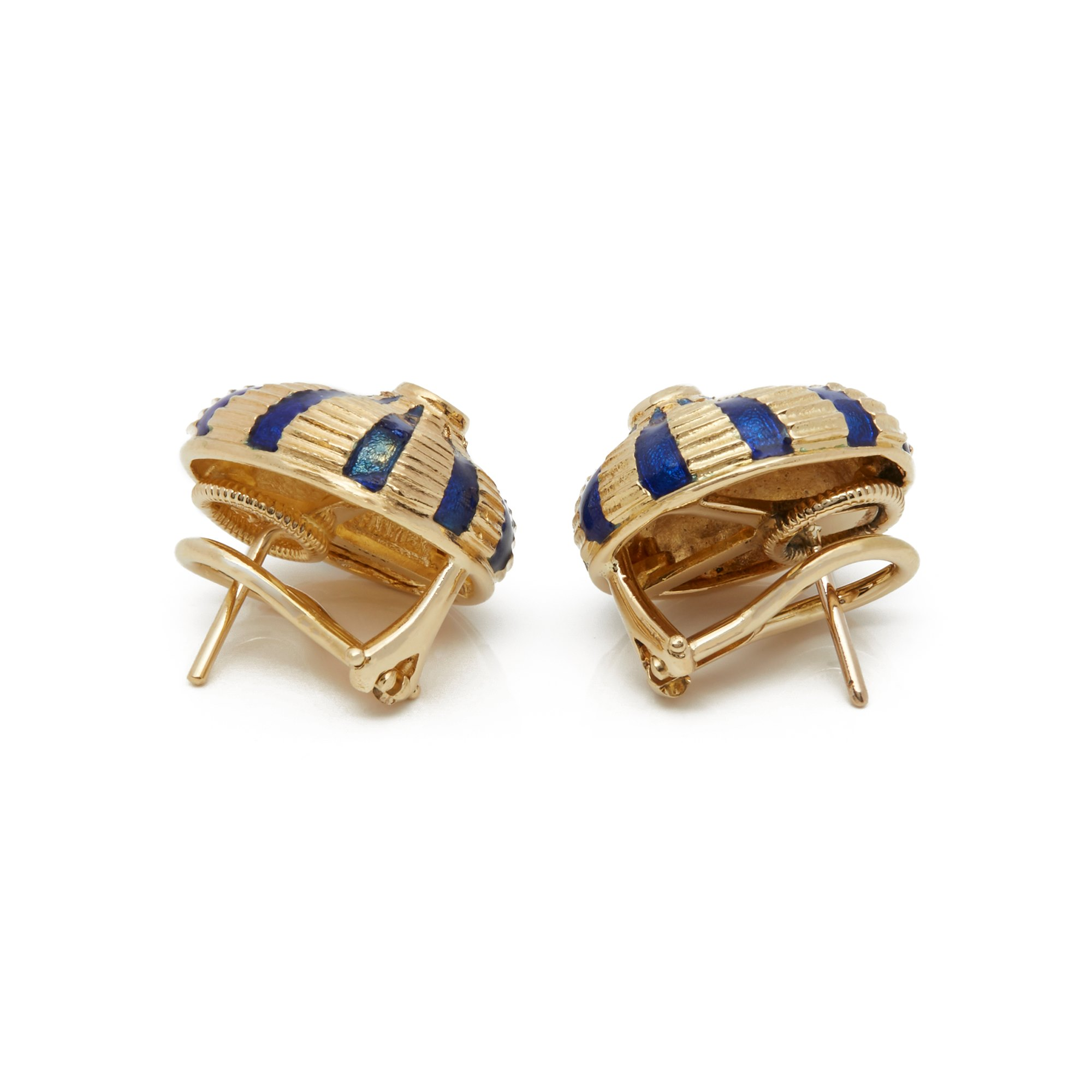 Tiffany & Co. ​18k Yellow Gold Schlumberger Earrings