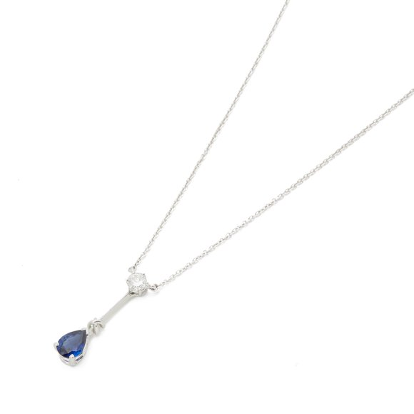 Mappin & Webb Platinum Sapphire and Diamond Necklace