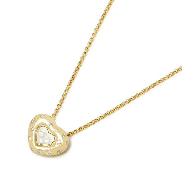 Chopard 18ct Yellow Gold Happy Diamonds Spotted Necklace