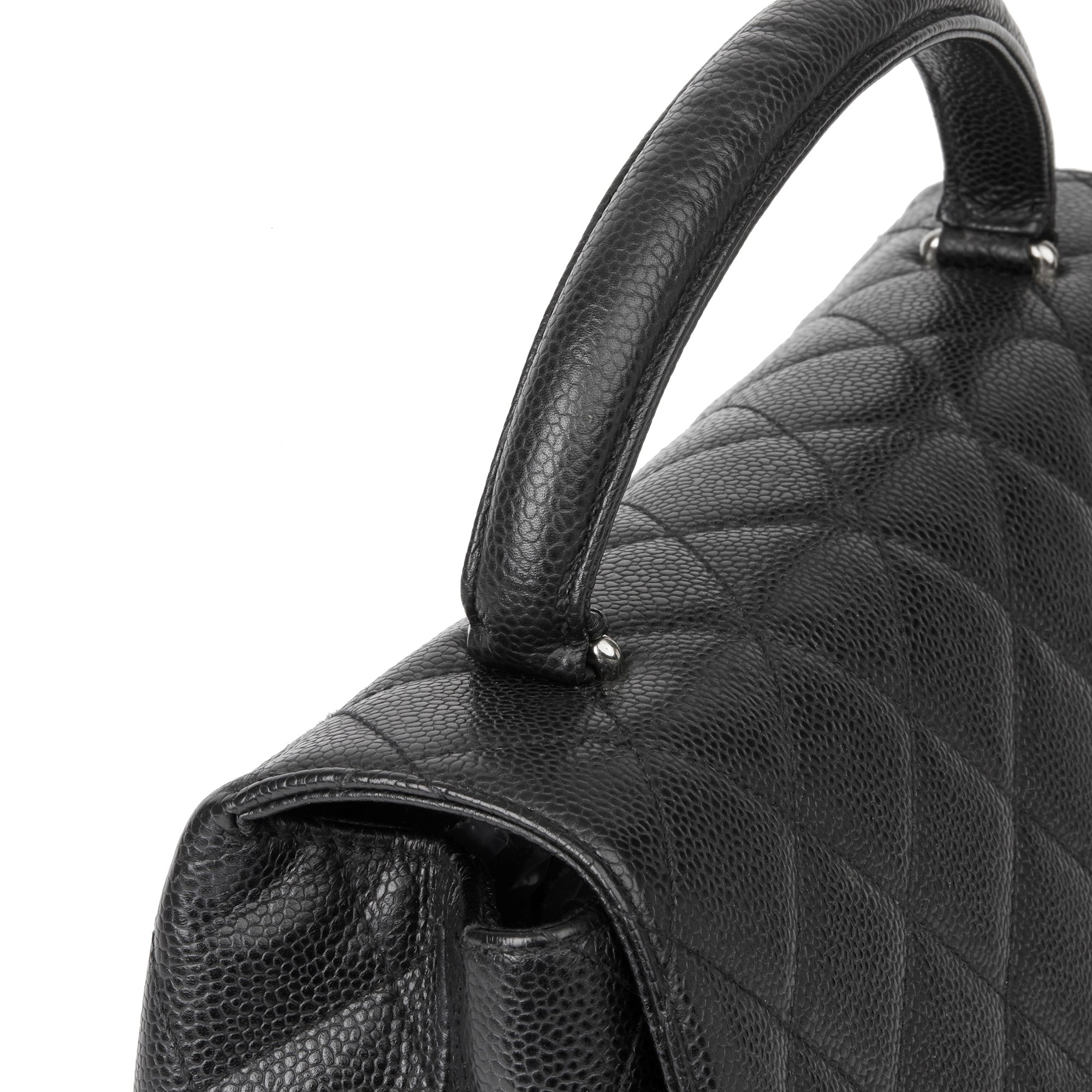 Chanel Black Quilted Caviar Leather Classic Kelly
