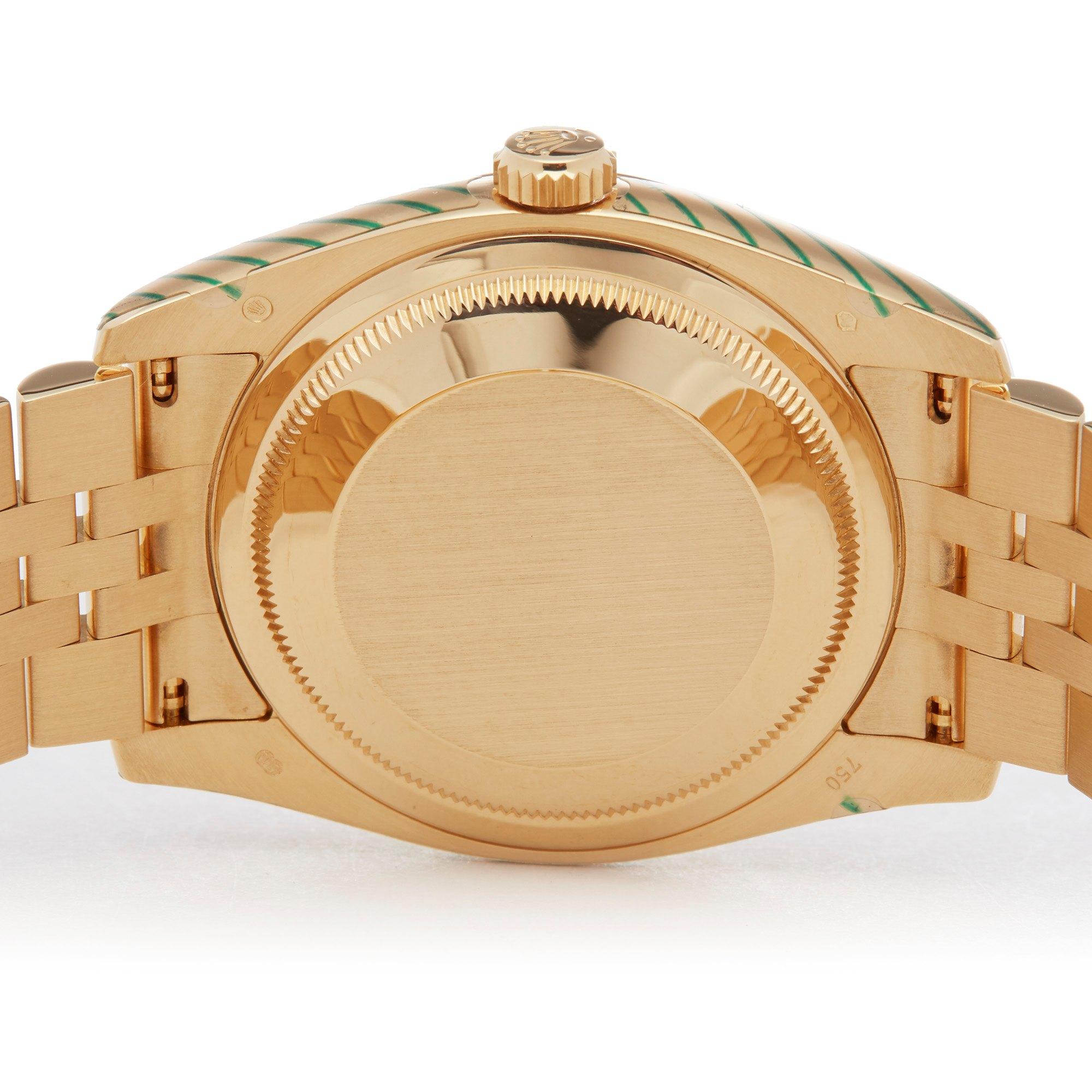 Rolex Datejust 36 Diamond 18K Yellow Gold 116238