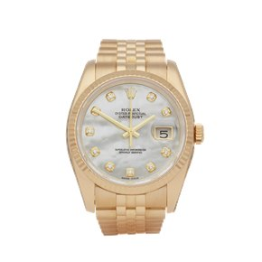 Rolex Datejust 36 Diamond 18K Yellow Gold - 116238