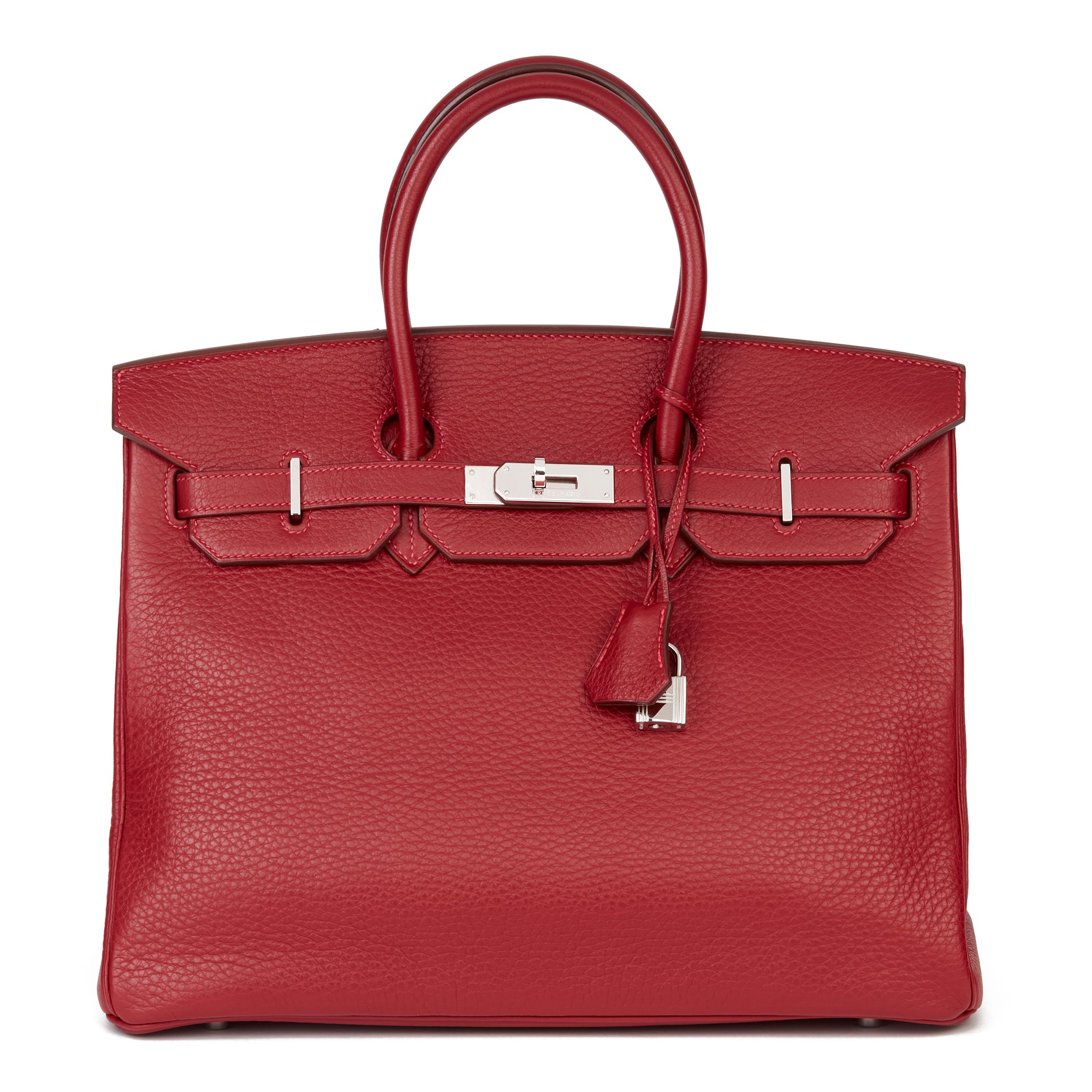 Hermès Rouge Garance Fjord Leather Birkin 35cm