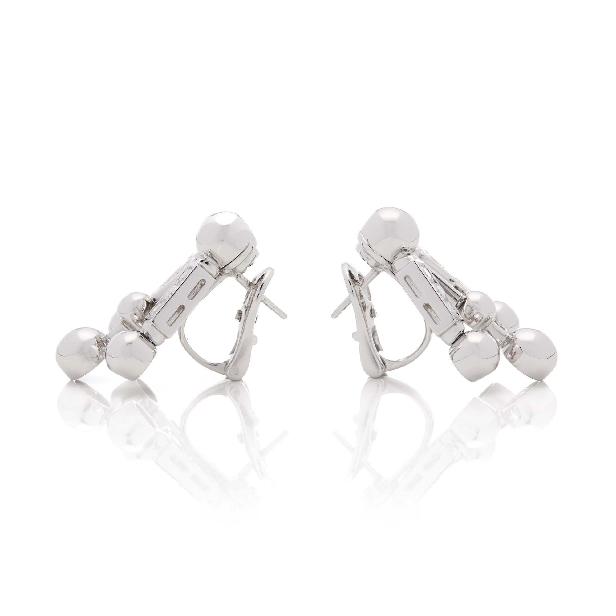 Bulgari 18k White Gold Diamond Drop Earrings