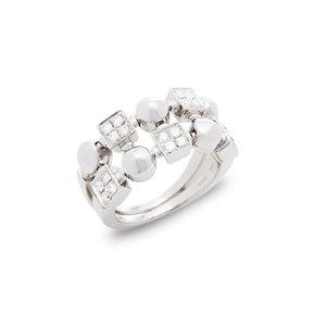 Bulgari 18k White Gold Lucéa Diamond Ring