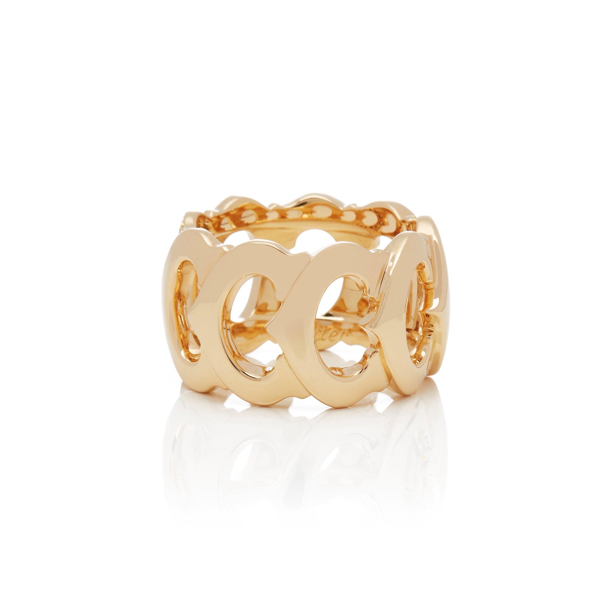 Cartier 18k Yellow Gold Signature CC Ring