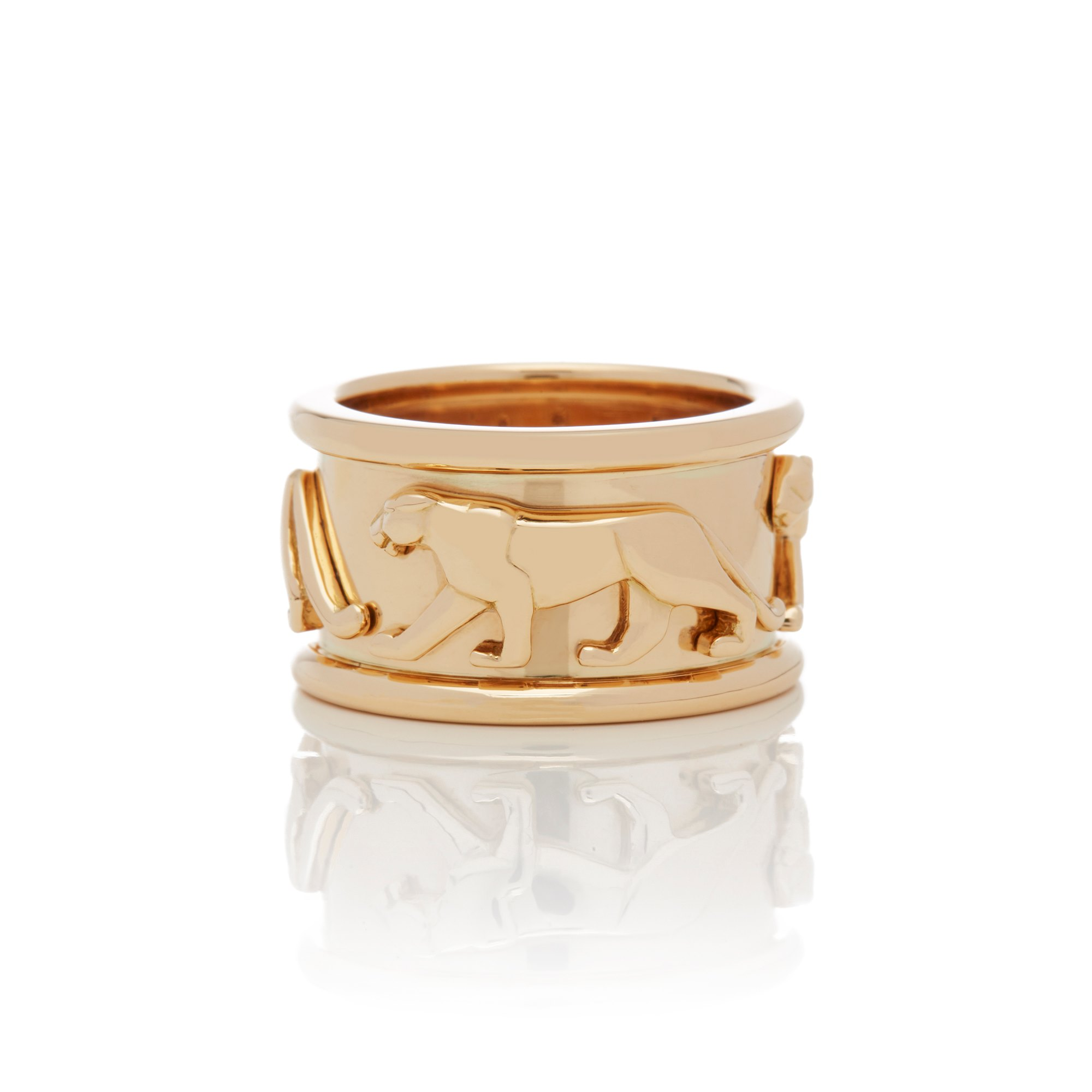 Cartier 18k Yellow Gold Panthere Ring