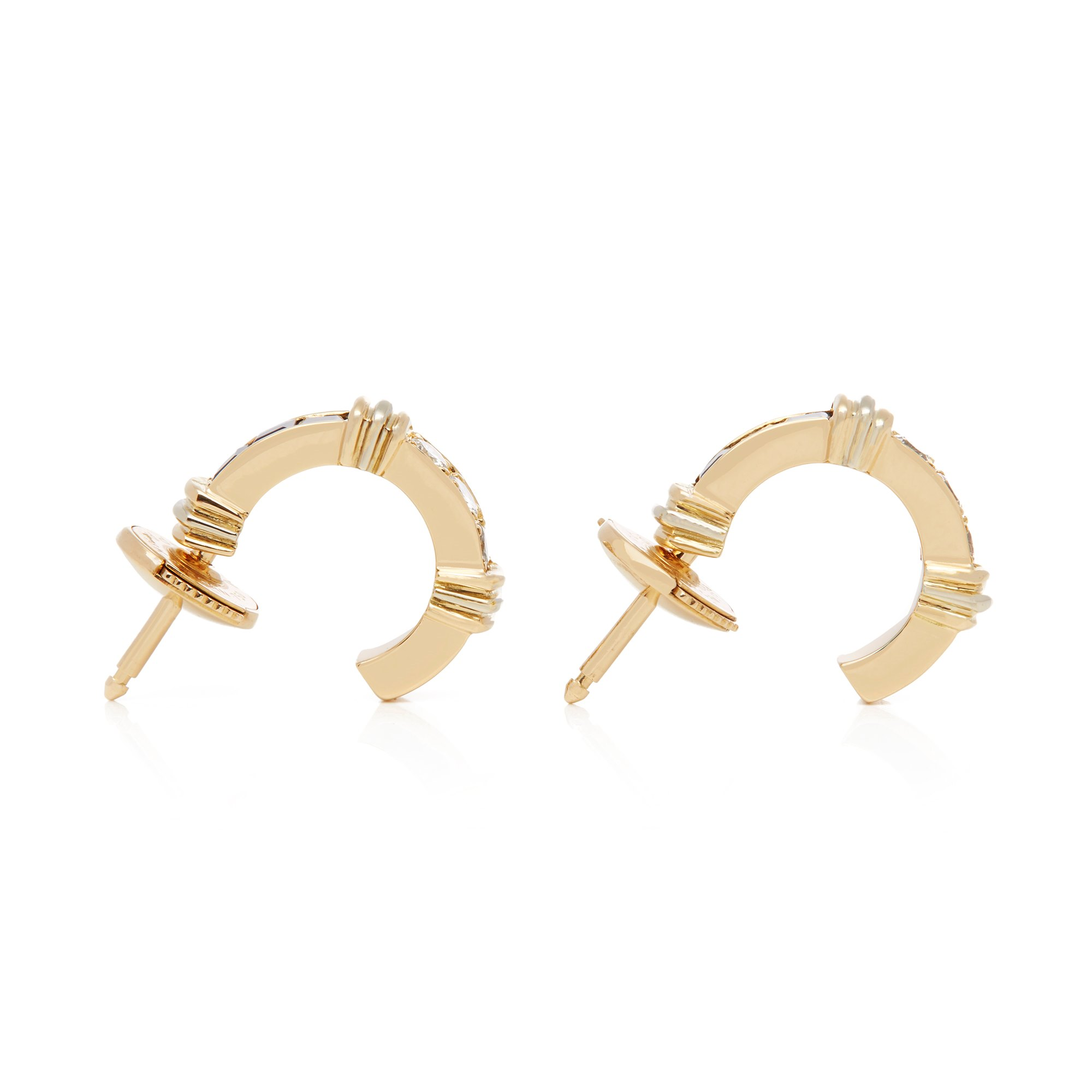 Cartier 18ct Yellow Gold Sapphire and Diamond Half Hoop Earrings