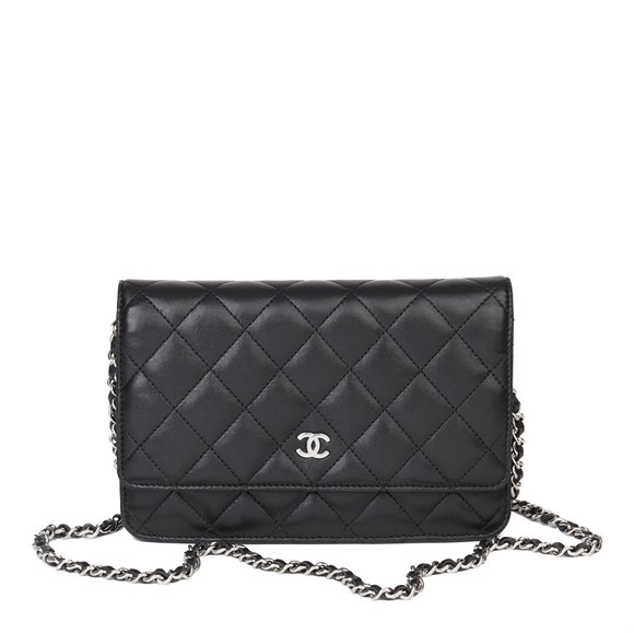 Chanel Black Quilted Lambskin Wallet-on-Chain