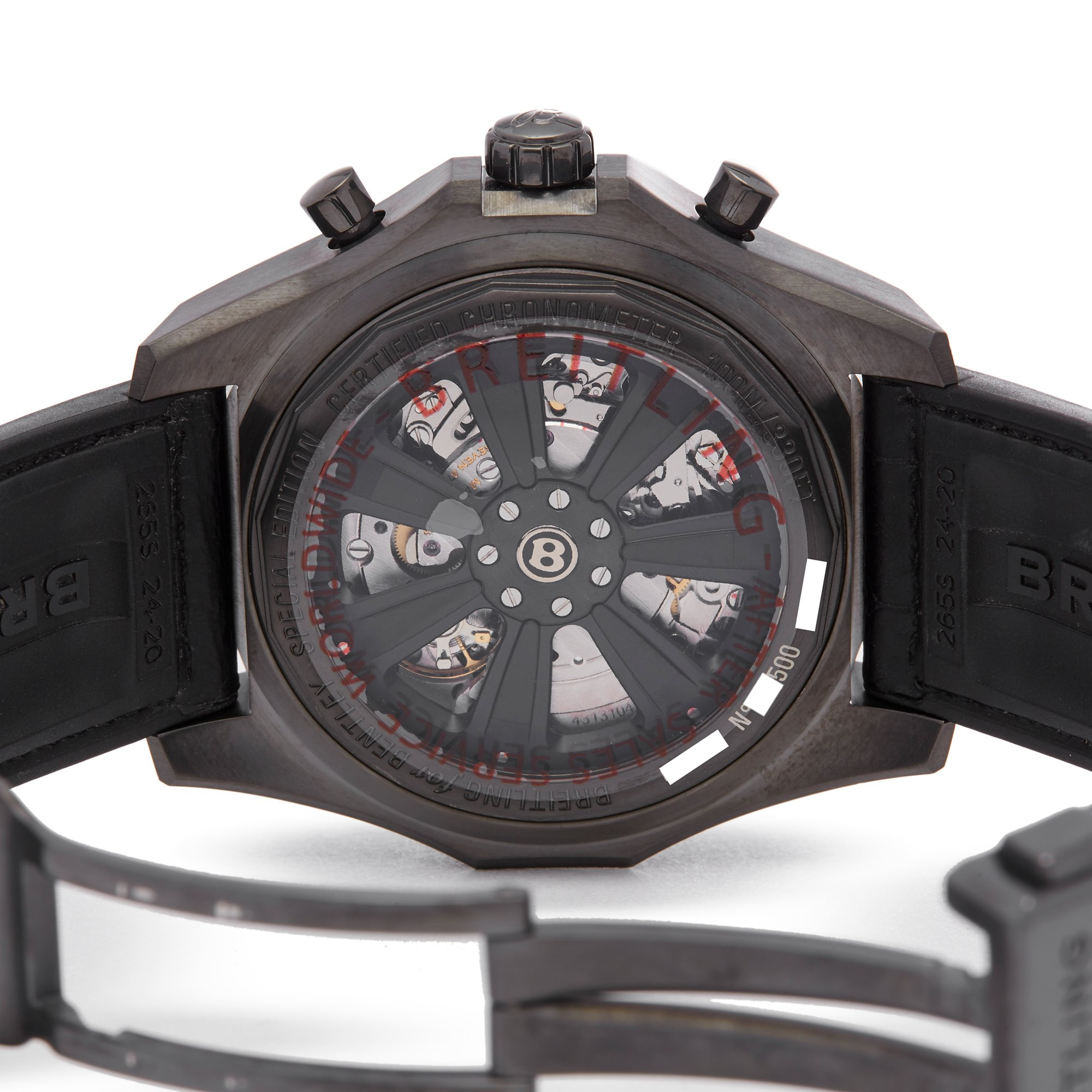 Breitling Bentley Midnight Chronograph Ltd Edition of 500 Dlc Gecoat Roestvrij Staal MB061113