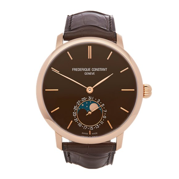Frederique Constant Moonphase Ultra Thin 18K Rose Gold - FC-705X4S9
