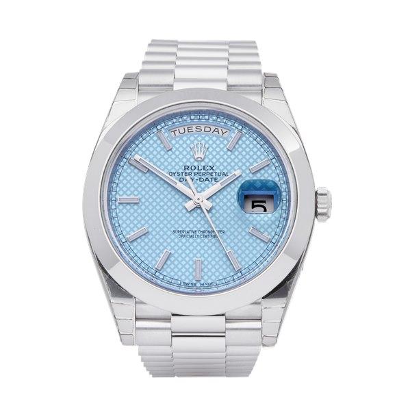 Rolex Day-Date 40 Stickered NOS Platinum - 228206