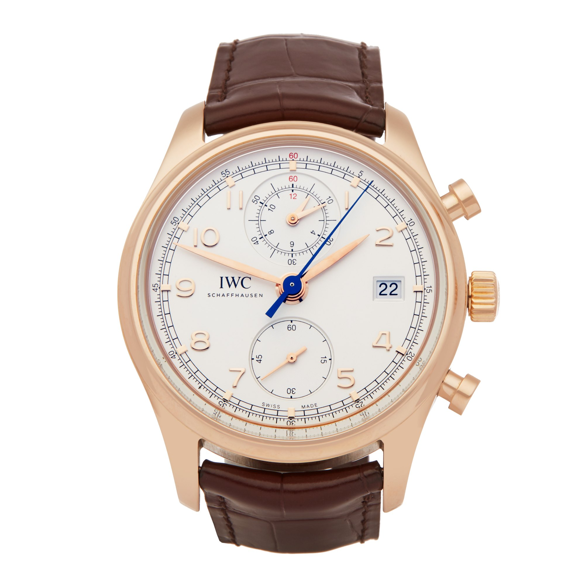 IWC Portuguese Classic Chronograph 18K Rose Gold IW390402