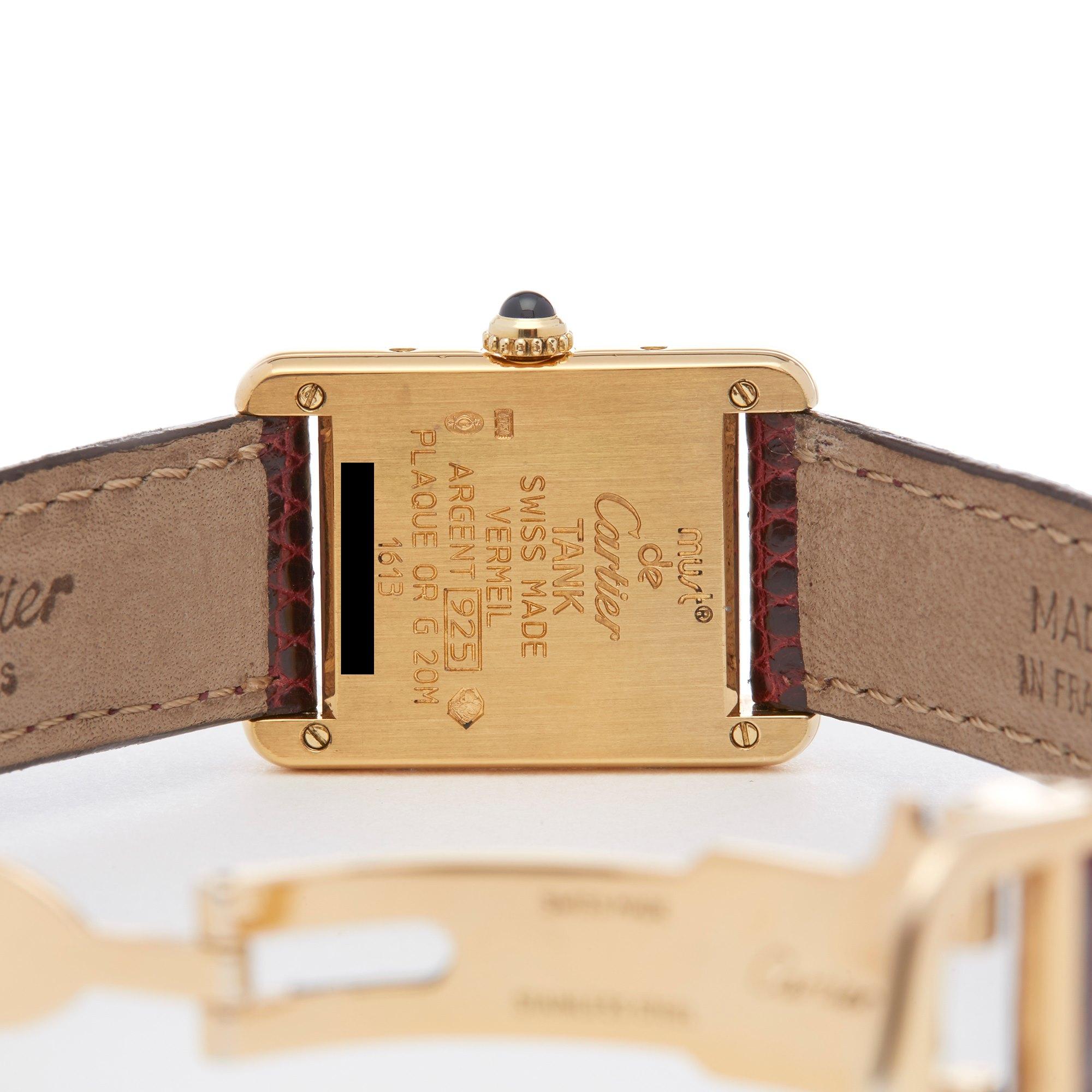 Cartier Must de Cartier Tank Gold Plated 1613