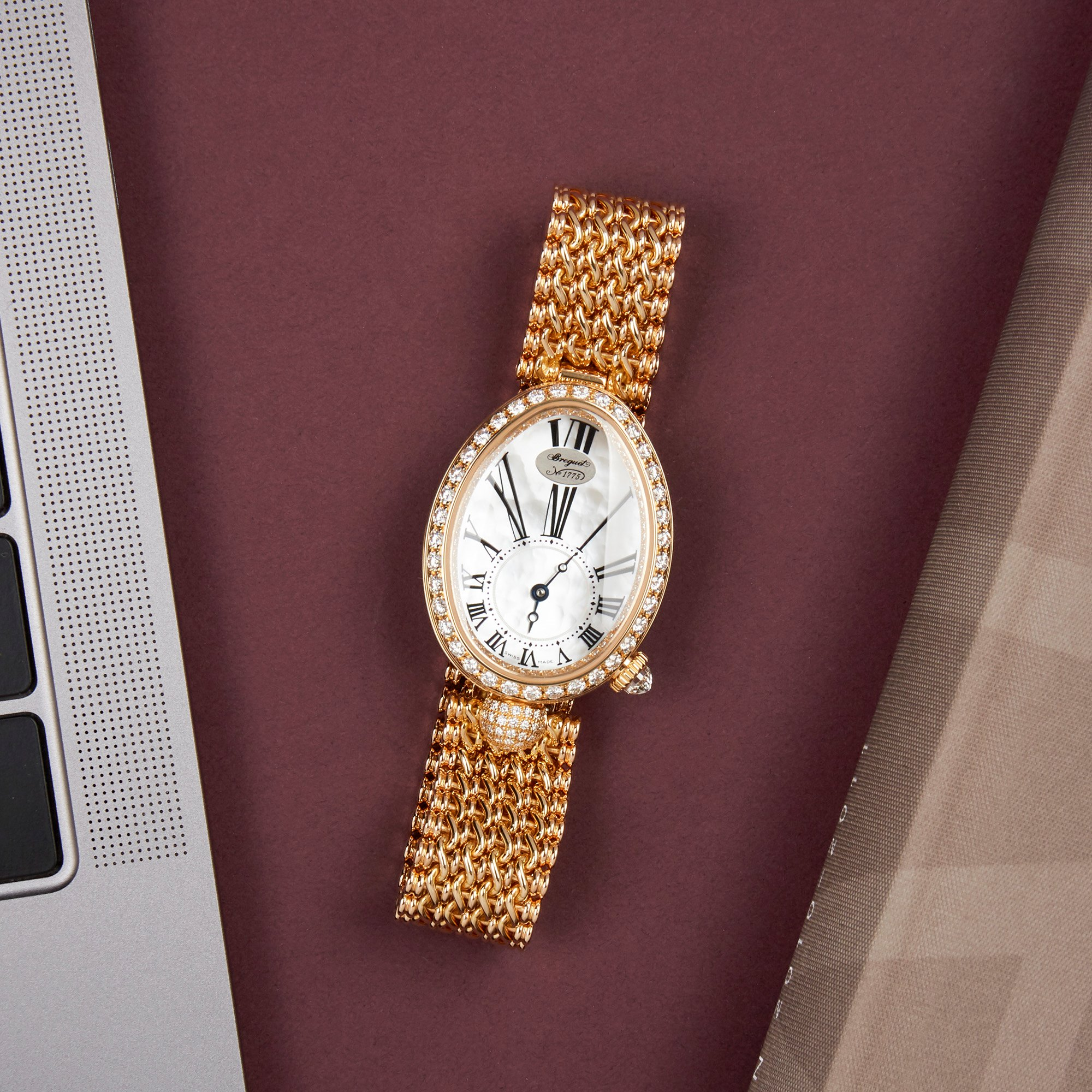 Breguet Reine de Naples Diamond Mother of Pearl 18K Yellow Gold 8928BA/51/J20 DD00