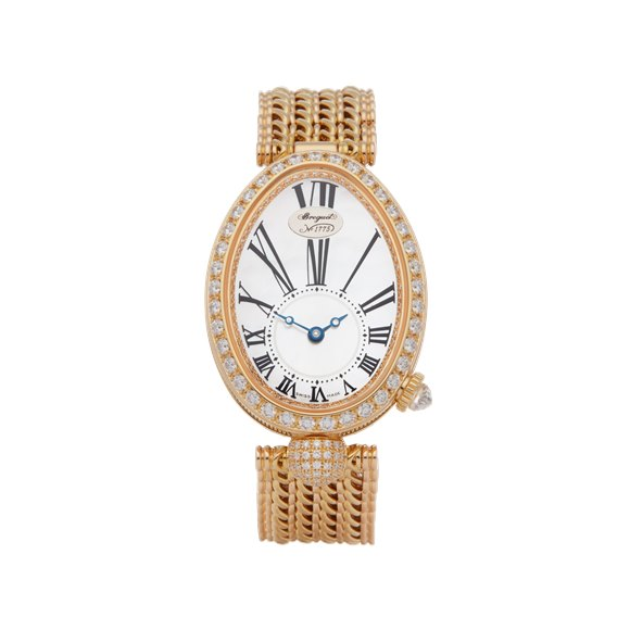 Breguet Reine de Naples Diamond Mother of Pearl 18K Yellow Gold - 8928BA/51/J20 DD00