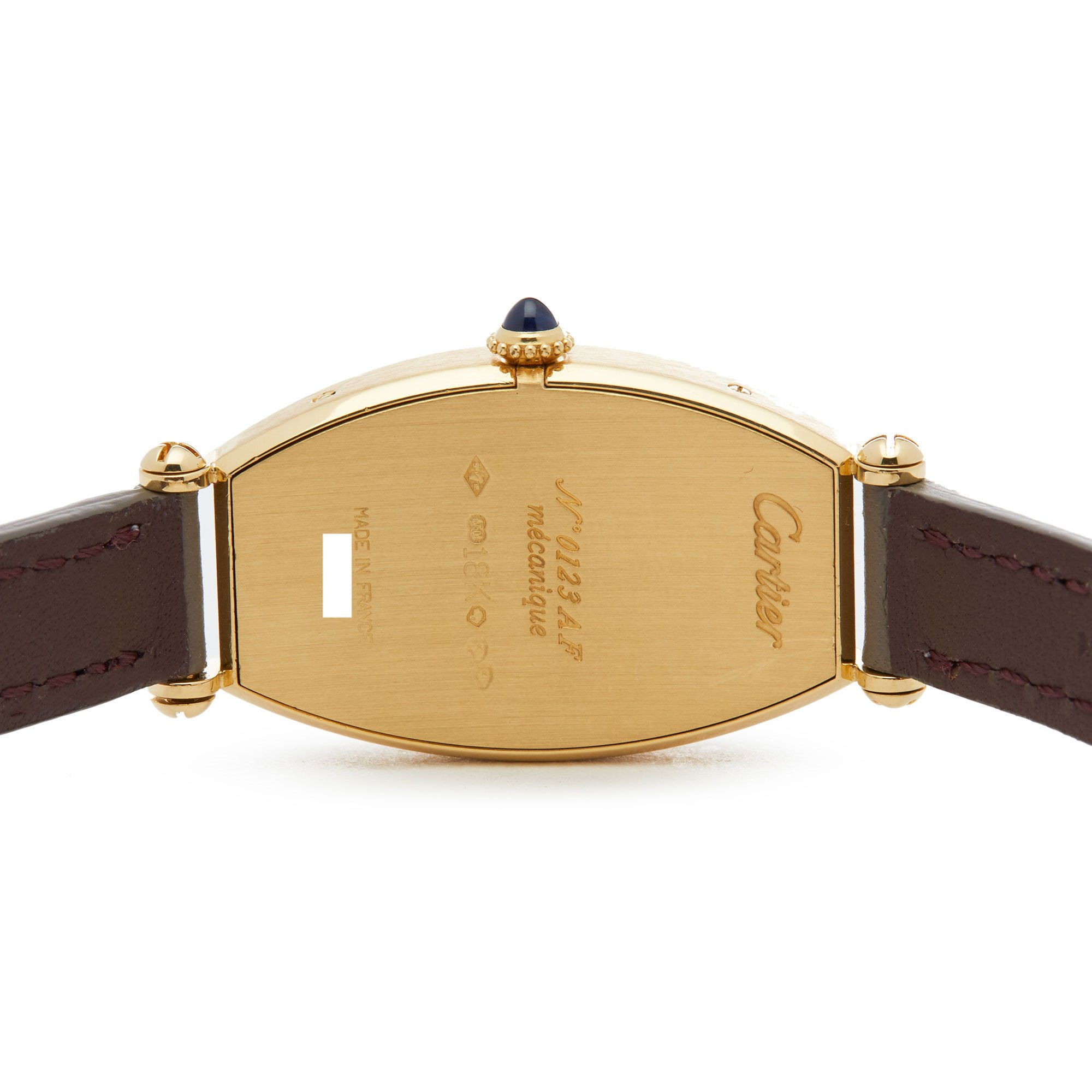 Cartier Tonneau Mecanique 18K Yellow Gold 2451B