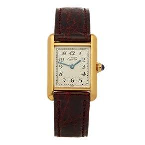 Cartier Must de Cartier Tank Paris Gold Plated
