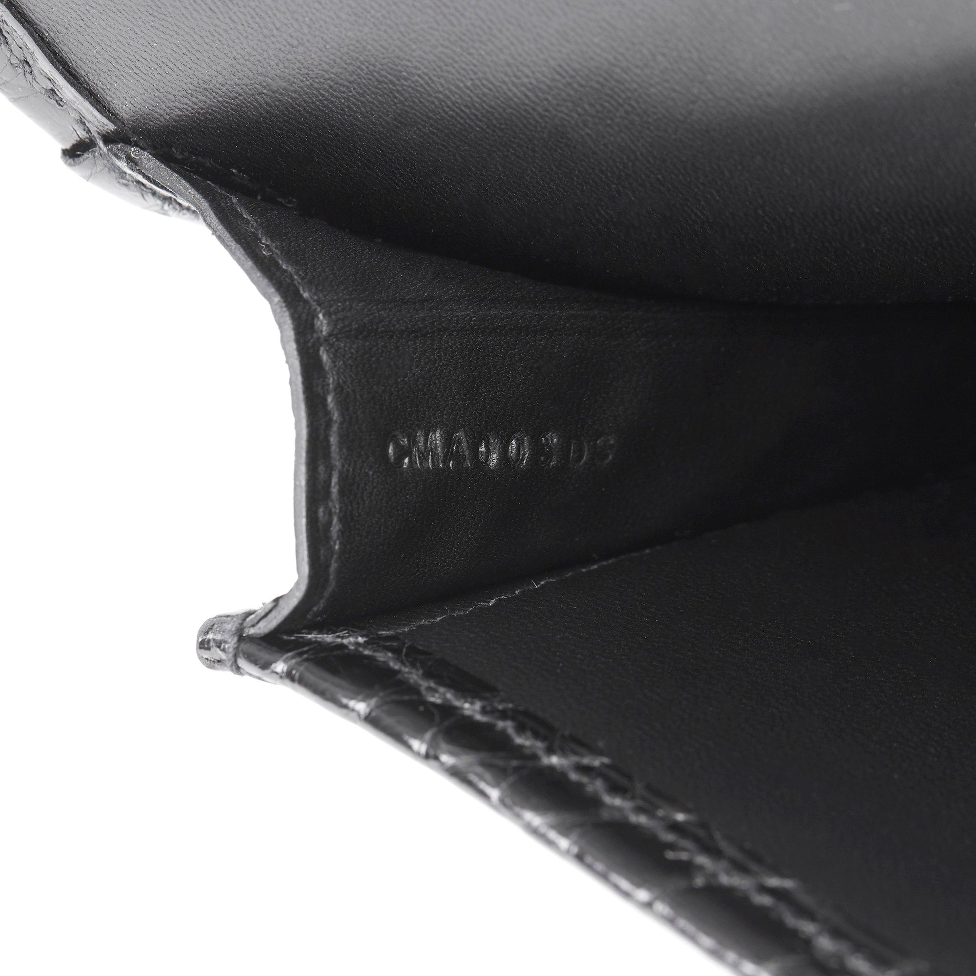 Hermès Black Shiny Mississippiensis Alligator Leather Jige 29