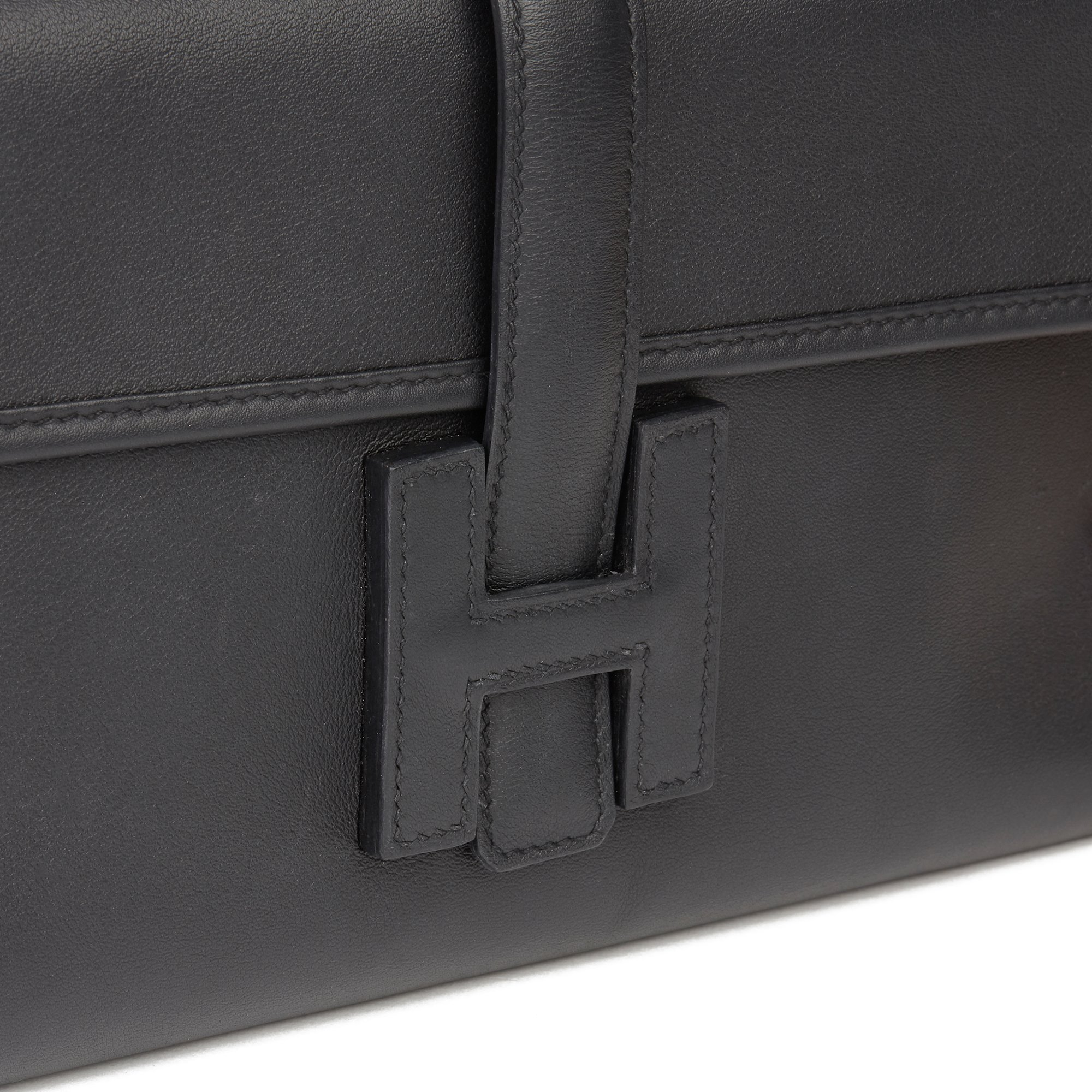 Hermès Black Quilted Swift Leather Jige Elan 29