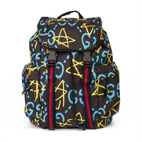Gucci Black, Blue & Yellow Canvas Techpack Backpack