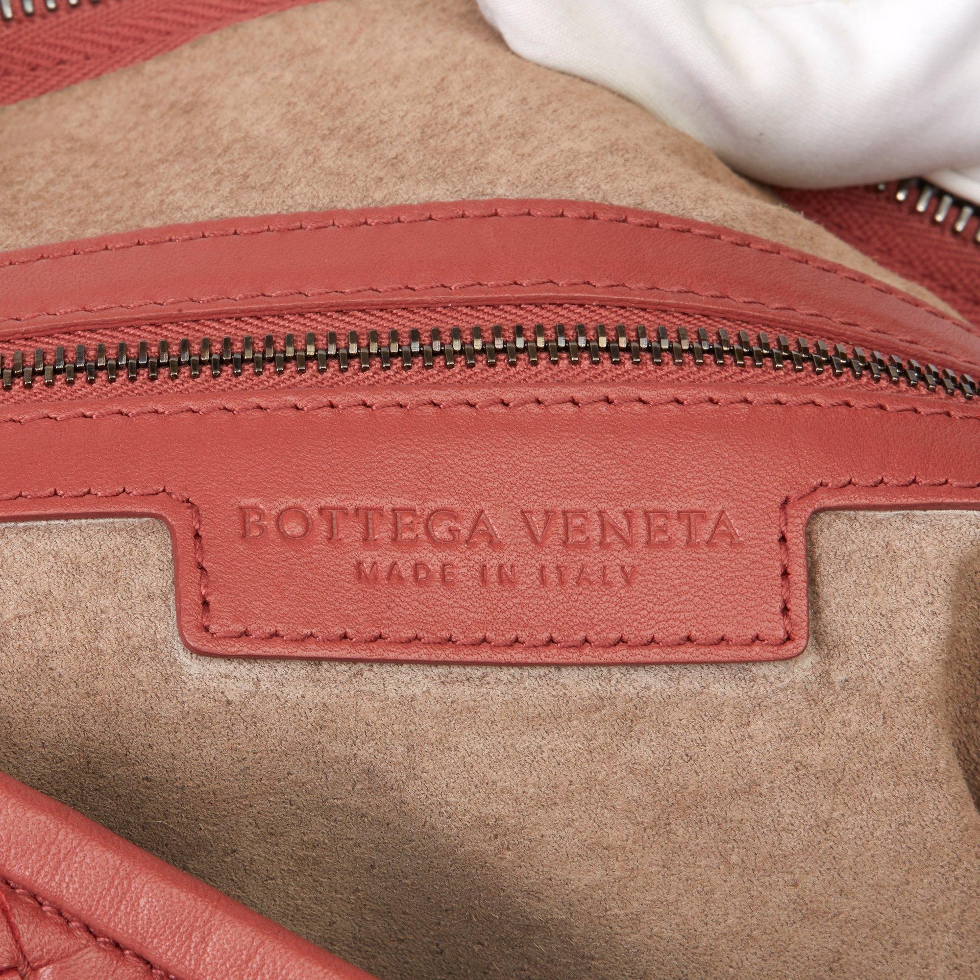 Bottega Veneta Burnt Red Woven Lambskin Medium Veneta Bag