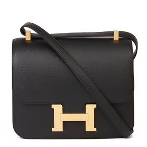 Hermès Black Epsom Leather Constance 24