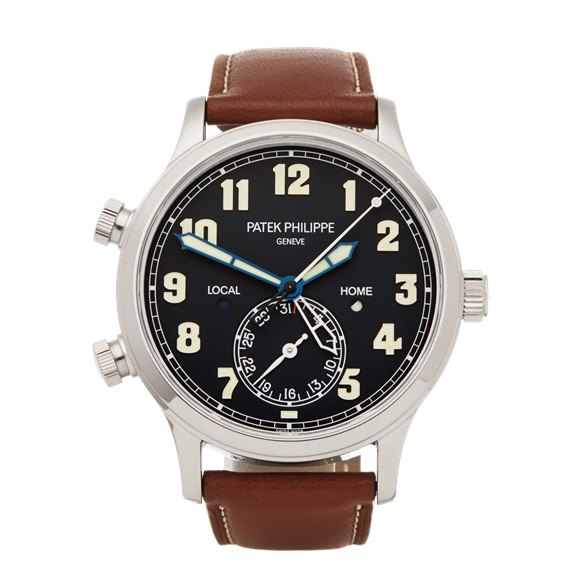 Patek Philippe Calatrava Pilot Travel Time 18K White Gold - 5524G-001