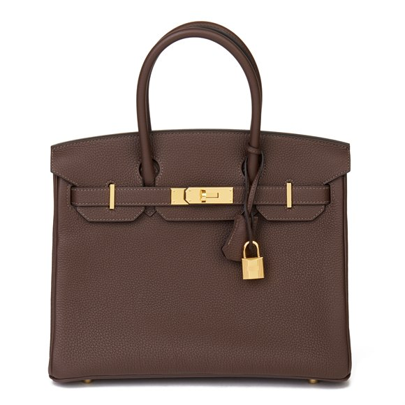 Hermès Chocolate Brown Togo Leather Birkin 30cm