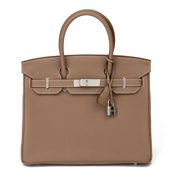 Hermès Etoupe Togo Leather Birkin 30cm