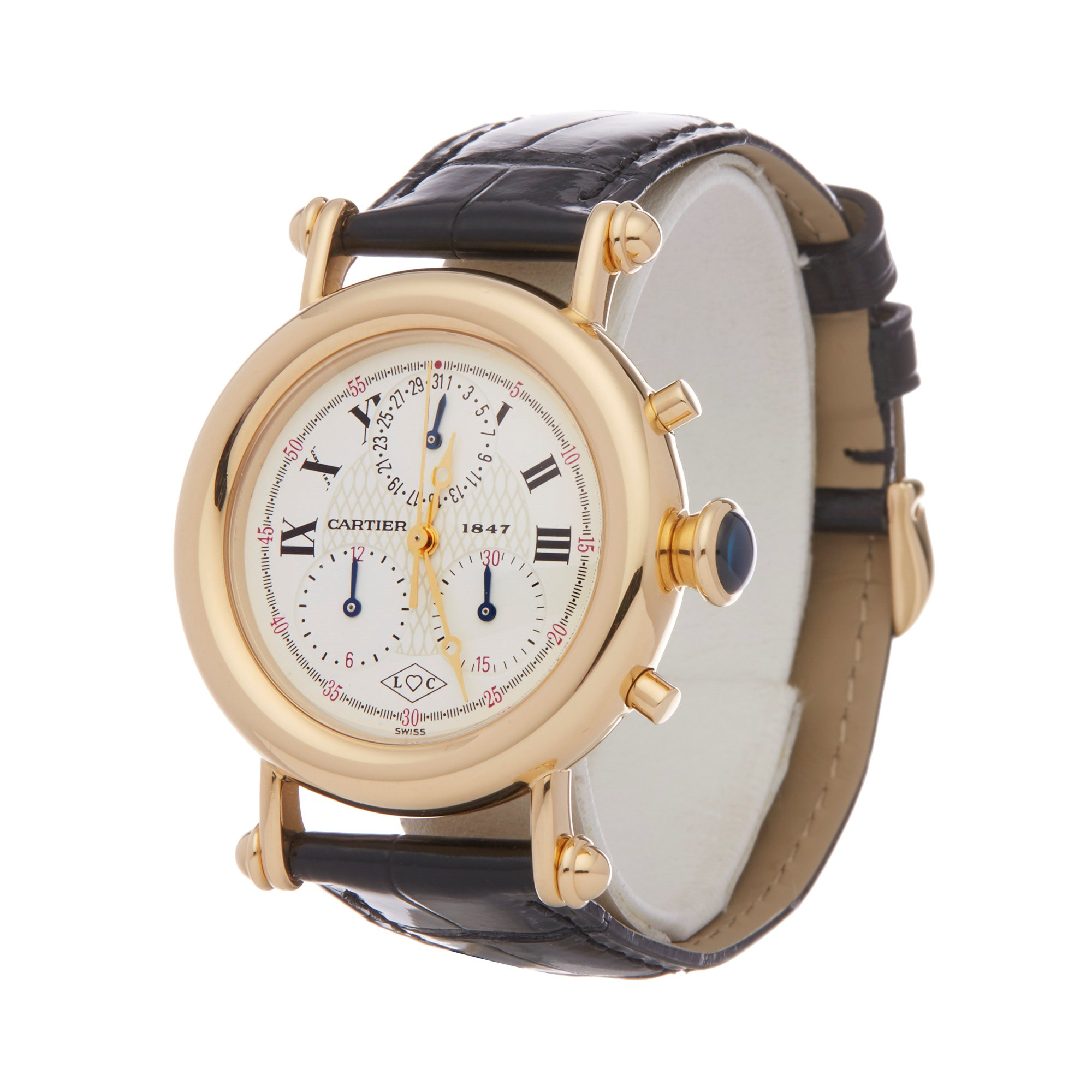 Cartier Diabolo Anniversary Chronograph 18K Yellow Gold 1400