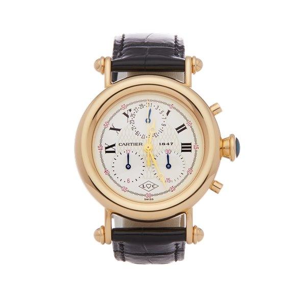 Cartier Diabolo Anniversary Chronograph 18K Yellow Gold - 1400