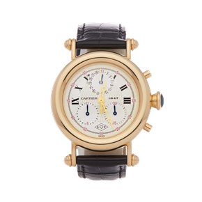Cartier Diabolo Anniversary Chronograph 18K Yellow Gold - 1400