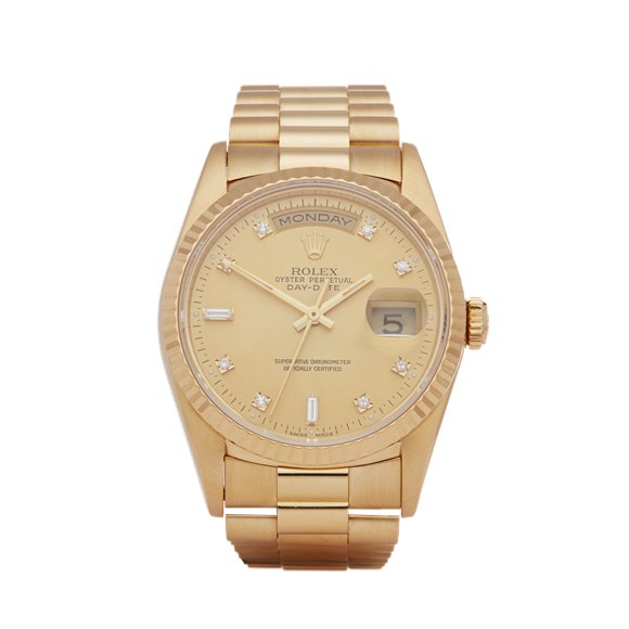 Rolex Day-Date 36 Diamond 18K Yellow Gold - 18238
