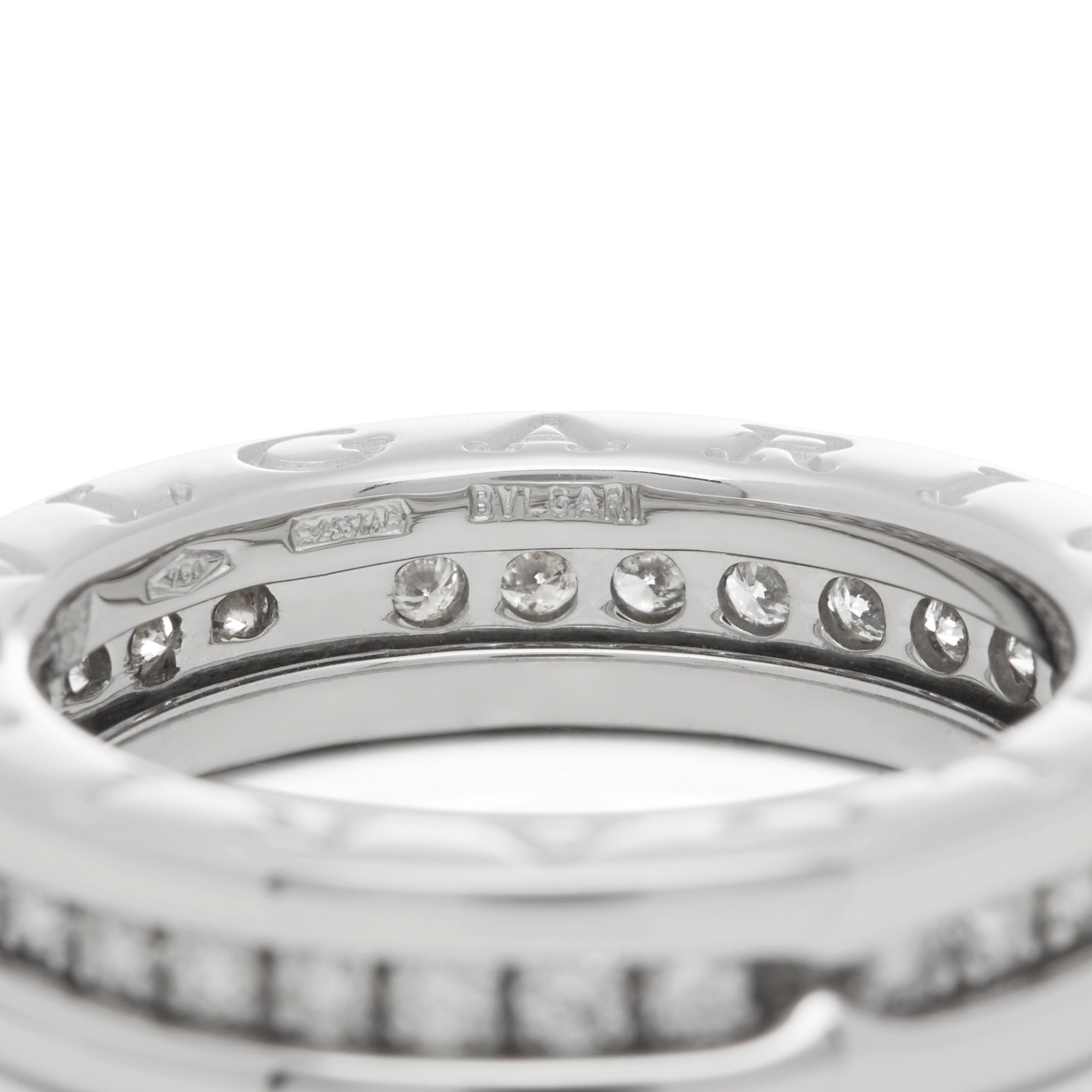 Bulgari 18k White Gold B.Zero 1 Ring