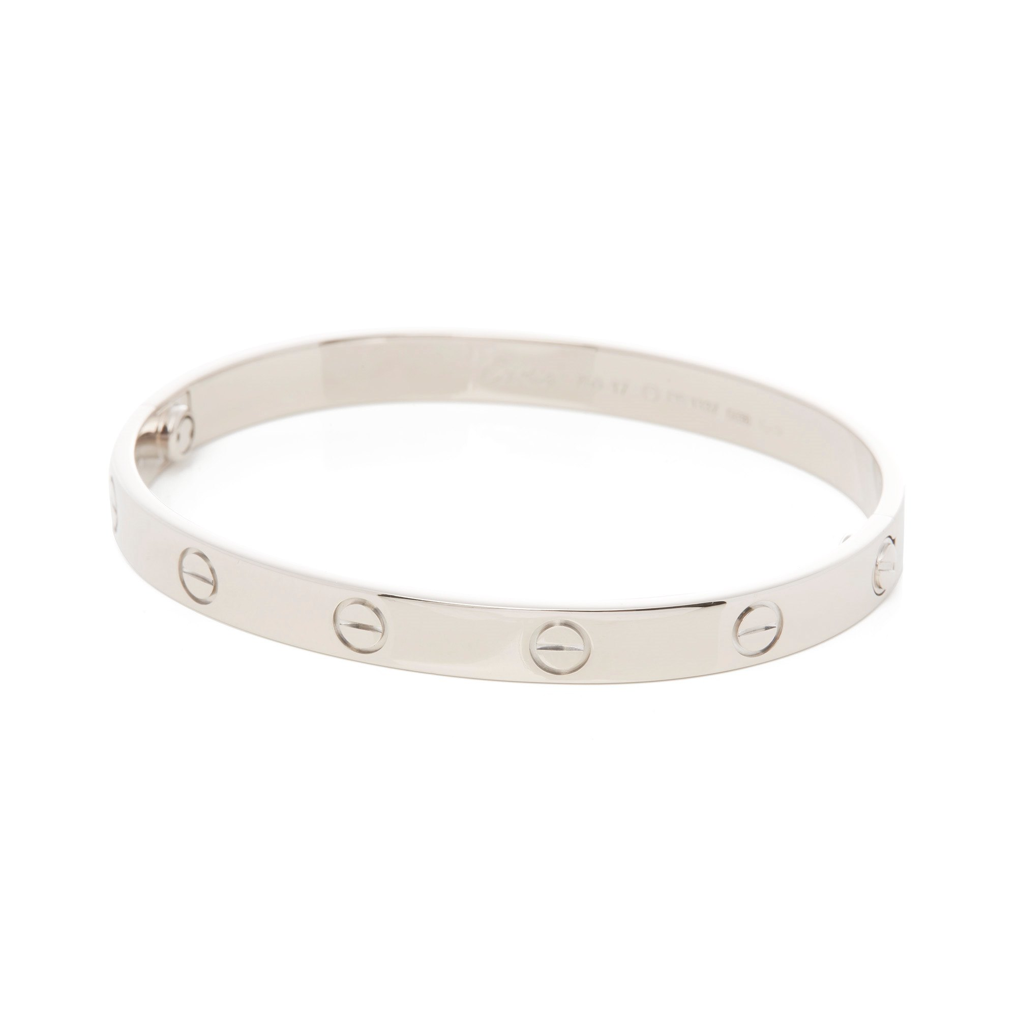 Cartier 18k White Gold Love Wedding Ring