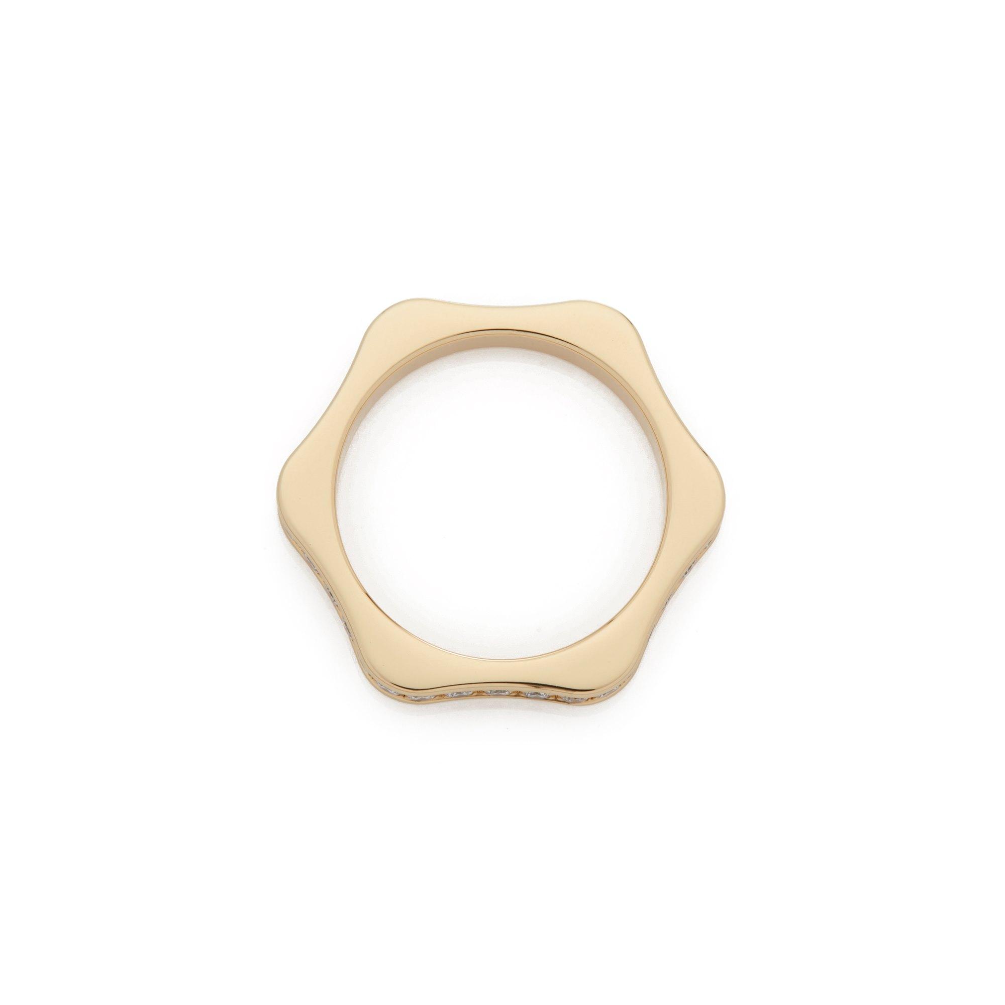 Montblanc 18k Yellow Gold 4810 Full Diamond Eternity Ring