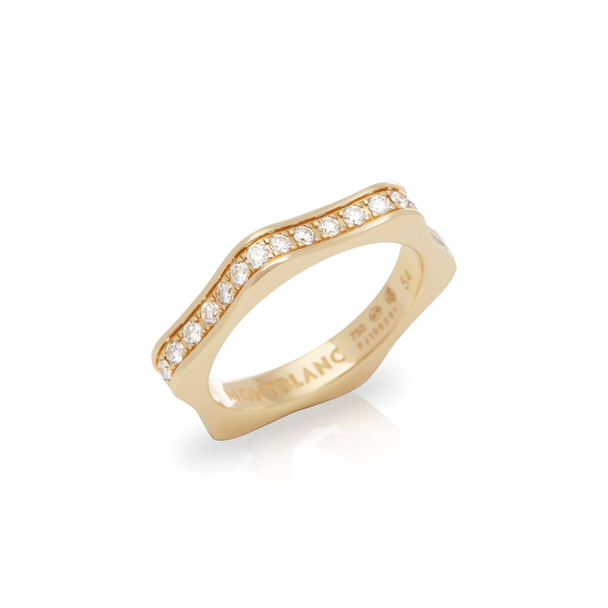 Montblanc 18k Yellow Gold 4810 Full Diamond Eternity Ring