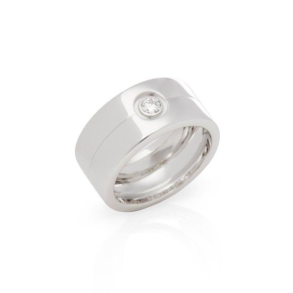 Cartier 18ct White Gold Single Diamond 11.76mm Ring