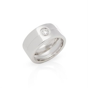 Cartier 18ct White Gold Single Diamond 11.76mm Ring