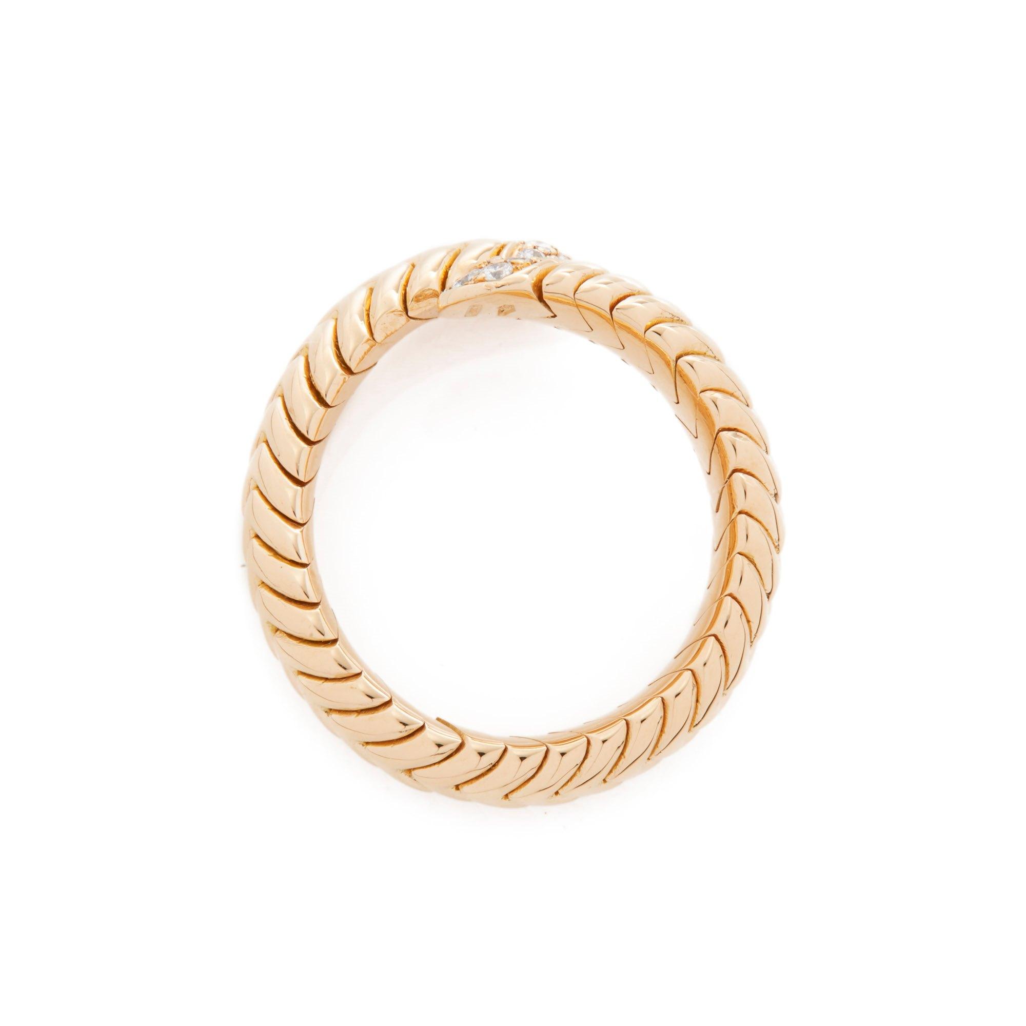 Bulgari 18k Yellow Gold Serpenti Diamond Ring