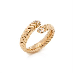 Bulgari 18k Yellow Gold Serpenti Diamond Ring