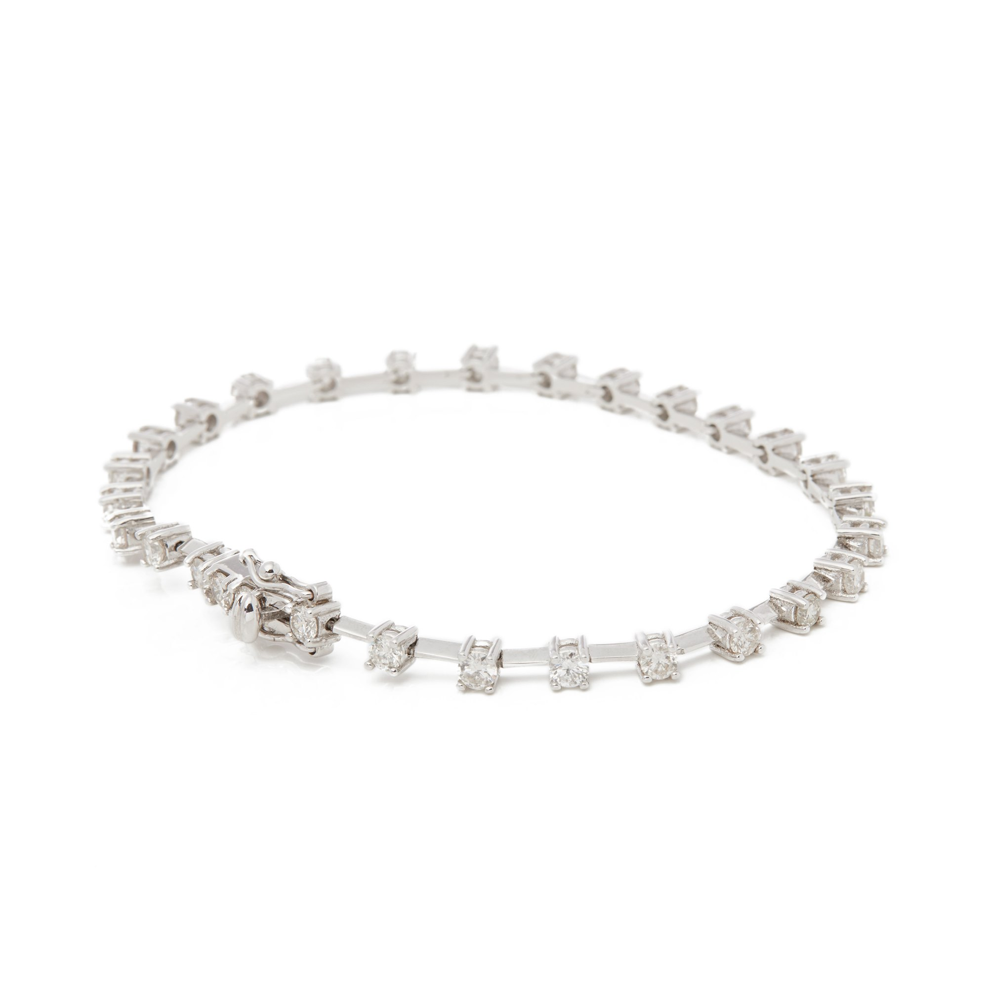 Diamond 18ct White Gold 2.32ct Diamond Line Bracelet