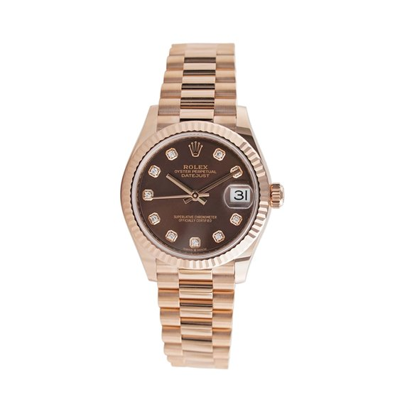 Rolex Datejust 31 Diamond 18K Rose Gold - 278275-0010