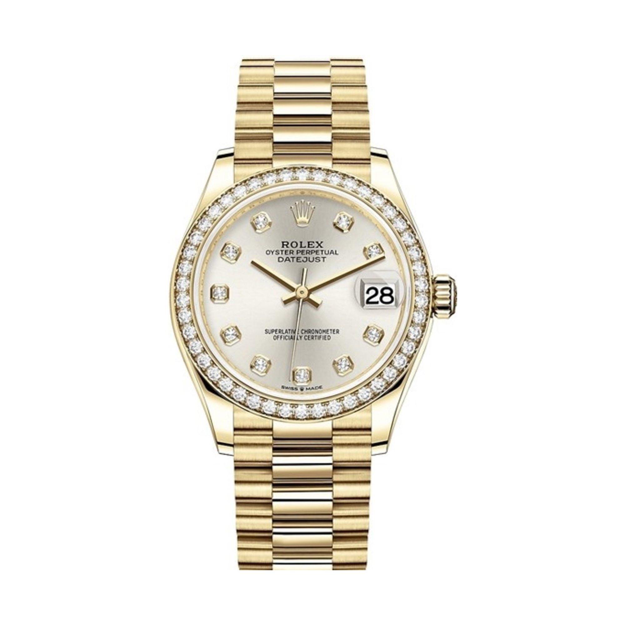 Rolex Datejust 31 Diamond 18K Yellow Gold 278288RBR-0028